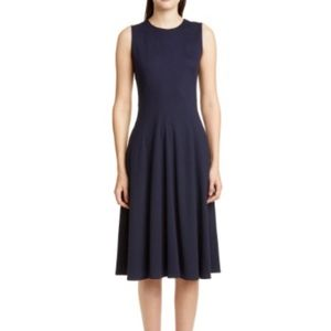Lafayette 148 New York Navy Blue Fit & Flare Dress